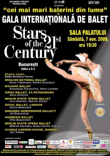 Regal de balet la Sala Palatului din Bucuresti