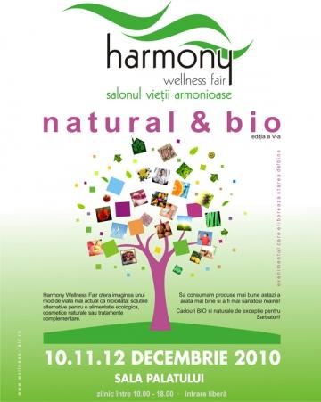 Harmony Welness Fair, targul de produse bio, de maine la Sala Palatului