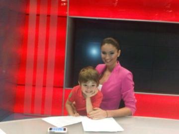 Geanina Varga, vizitata la munca de fiul ei