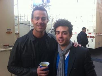 Marius Moga, intalnire cu Adam Levine, solistul trupei Maroon5