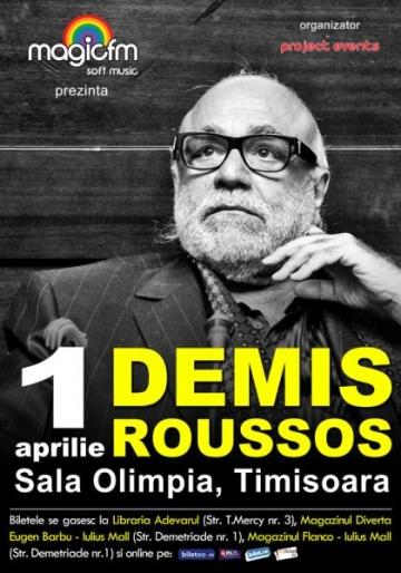 Demis Roussos concerteaza la Timisoara pe 1 aprilie!