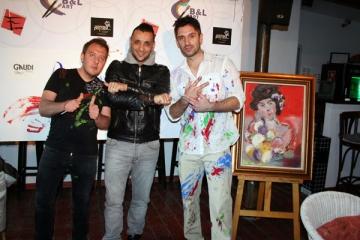 Pictorul Bogdan Mihai Radu a pus la incercare creativitatea vedetelor