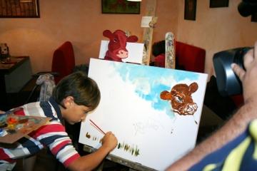 Ruxandra Dragomir se preocupa de educatia artistica a copiilor sai