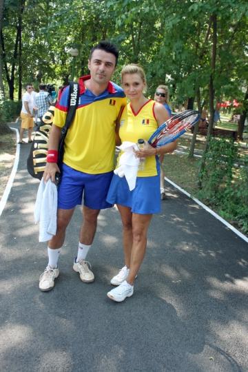 Cornel Ilie si-a demonstrat priceperea in tenis in fata Principesei Margareta