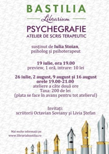 Octavian Soviany vine maine la atelierul de scris terapeutic de la Bastilia