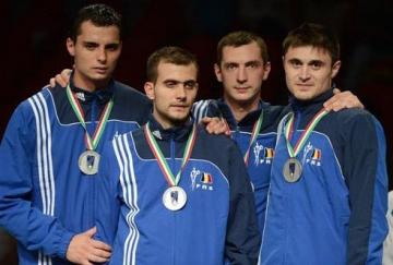 Echipa de sabie a Romaniei a luat medalia de argint la JO2012