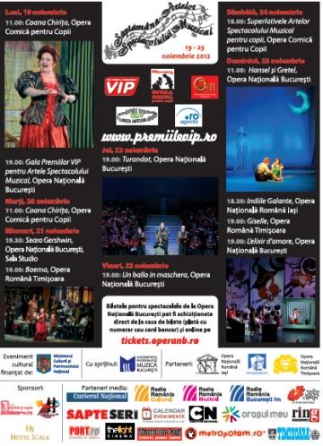 Coana Chirita deschide Saptamana Artelor Spectacolului Muzical!