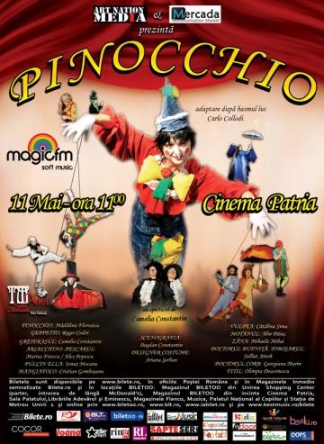 "CONCURS! ""Pinocchio"" vine la Cinema Patria, 11 mai, ora 11:00"